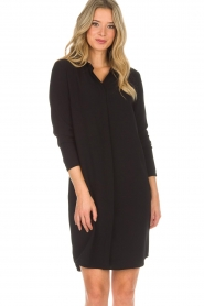 Knit-ted |  Blouse dress Amani | black  | Picture 2