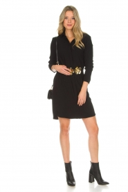 Knit-ted |  Blouse dress Amani | black  | Picture 3