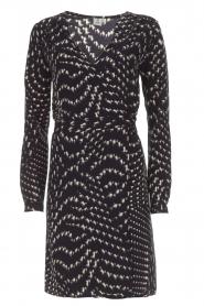 Knit-ted |  Wrap dress Aisha | blue  | Picture 1