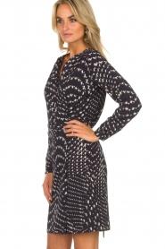 Knit-ted |  Wrap dress Aisha | blue  | Picture 4