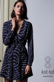 Knit-ted |  Wrap dress Aisha | blue  | Picture 7
