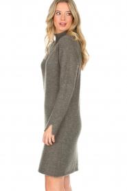 Knit-ted | Trui jurk Talja | grijs  | Afbeelding 4