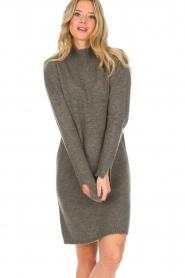 Knit-ted | Trui jurk Talja | grijs  | Afbeelding 7