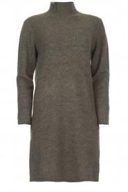 Knit-ted | Trui jurk Talja | grijs  | Afbeelding 1