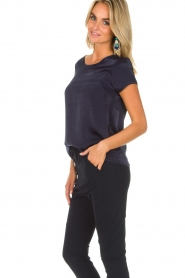 Knit-ted |  Top Angela | navy  | Picture 4