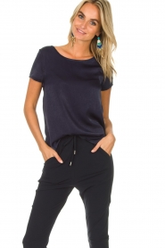 Knit-ted |  Top Angela | navy  | Picture 2