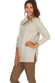 Knit-ted | Trui Tiffany | beige  | Afbeelding 4