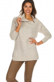 Knit-ted | Trui Tiffany | beige  | Afbeelding 2