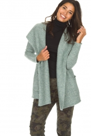 Knit-ted |  Cardigan Tori | green  | Picture 4