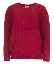 Knit-ted | Trui Tyra | rood  | Afbeelding 1