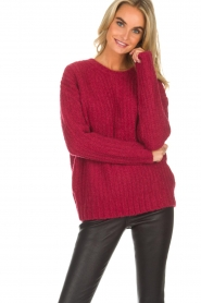 Knit-ted | Trui Tyra | rood  | Afbeelding 2
