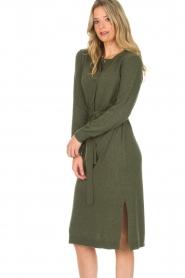 Knit-ted | Jurk Tamara | groen  | Afbeelding 2