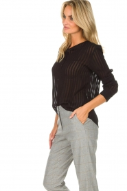 Knit-ted | Top Dionne | zwart  | Afbeelding 4