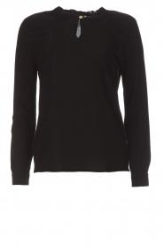 Knit-ted | Top Fynn | zwart  | Afbeelding 1