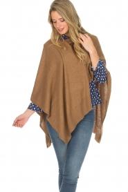 Knit-ted | Poncho Tara | camel  | Afbeelding 2