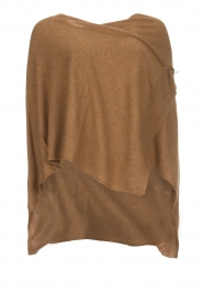 Knit-ted | Poncho Tara | camel  | Afbeelding 1