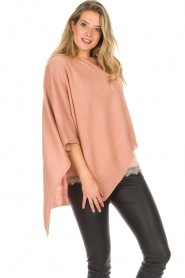 Knit-ted |  Poncho Tara | pink  | Picture 4