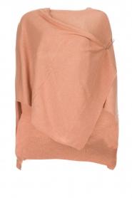Knit-ted | Poncho Tara | roze  | Afbeelding 1