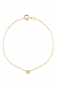 Just Franky |  14k golden bracelet Cube | gold  | Picture 1
