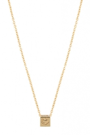 Just Franky |  14k golden necklace Cube 42-44 cm | gold  | Picture 1