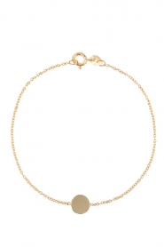 Just Franky |  14k golden bracelet Iconic Coin | gold  | Picture 1