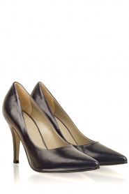 Noe |  Leather pumps Nicole | dark blue  | Picture 4