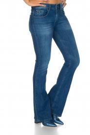 Lois Jeans |  Flared jeans Melrose L34 | vintage blue  | Picture 4