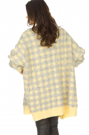 American Vintage | Vest met geblokte print Olivia | geel  | Afbeelding 5