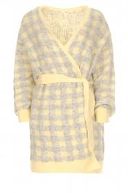 American Vintage | Vest met geblokte print Olivia | geel  | Afbeelding 1