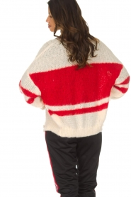 American Vintage |  Oversized cardigan Louise | white  | Picture 6