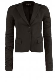 Patrizia Pepe | Klassieke blazer Floriana | zwart  | Afbeelding 1