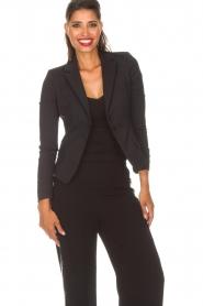 Patrizia Pepe | Klassieke blazer Floriana | zwart  | Afbeelding 2