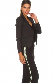 Patrizia Pepe | Klassieke blazer Floriana | zwart  | Afbeelding 4