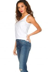 American Vintage |  Sleeveless top Jacksonville | white  | Picture 3