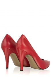 Noe |  Leather pumps Nicole | Red  | Picture 4