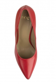 Noe |  Leather pumps Nicole | Red  | Picture 6