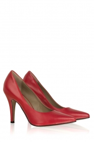 Noe |  Leather pumps Nicole | Red  | Picture 3