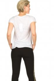 American Vintage |  Basic V-neck T-shirt Jacksonville | white  | Picture 4