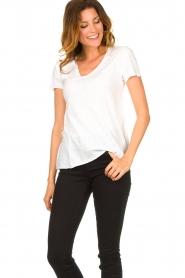 American Vintage |  Basic V-neck T-shirt Jacksonville | white  | Picture 3
