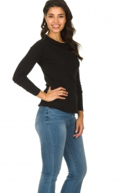American Vintage |  Basic round neck top l\s Sonoma | black  | Picture 3