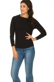 American Vintage |  Basic round neck top l\s Sonoma | black  | Picture 2