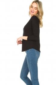 American Vintage |  Basic round neck top l\s Sonoma | black  | Picture 5