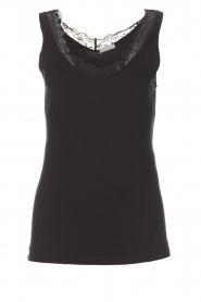 Hanro |  Top Cotton Lace | black  | Picture 1