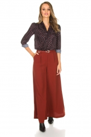 Silvian Heach |  Cropped trousers Tonala | brown  | Picture 2