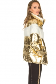 Silvian Heach | Glanzende donsjas Bonul | goud  | Afbeelding 4