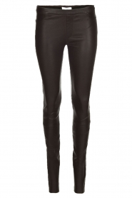 Leather leggings Campbell | black