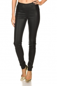 Dante 6 |  Leather leggings Campbell | black  | Picture 2