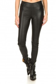Dante 6 :  Stretch leather leggings Campbell | black - img4