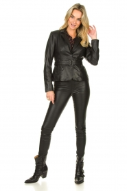 Dante 6 |  Stretch leather leggings Campbell | black  | Picture 2