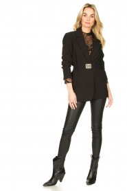 Dante 6 :  Stretch leather leggings Campbell | black - img2